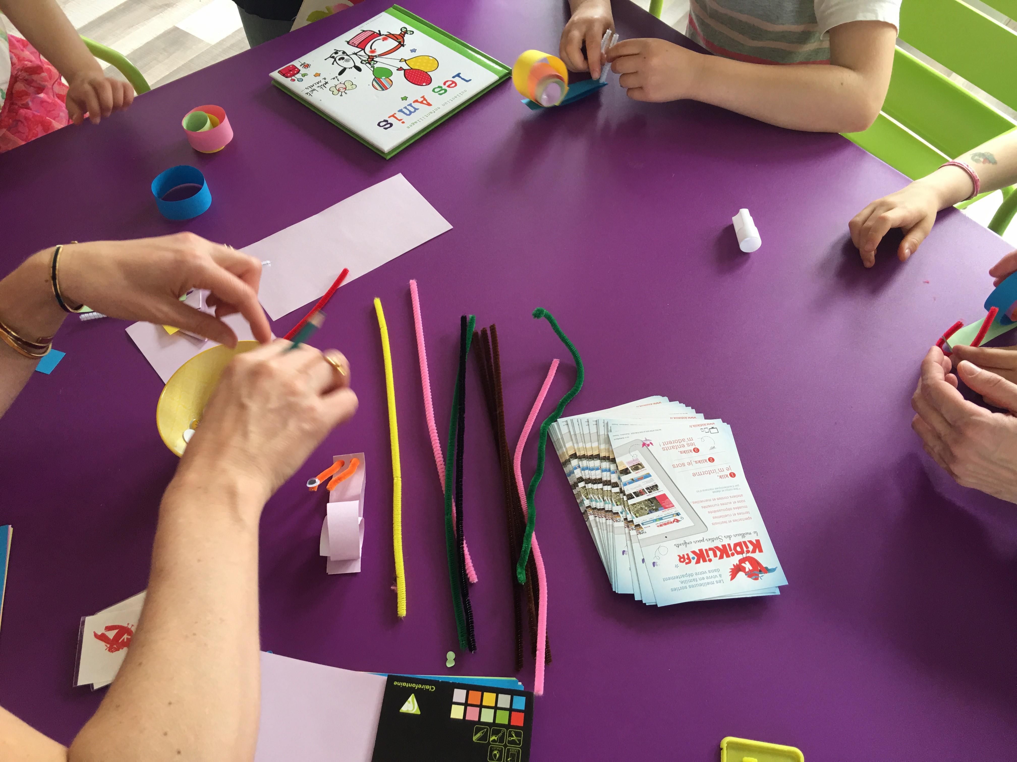 Atelier bricolage pour les portes ouvertes de Lire & délire